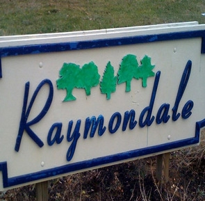 Raymondale sign