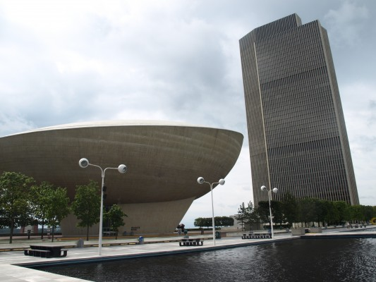 The Egg and Corning Tower