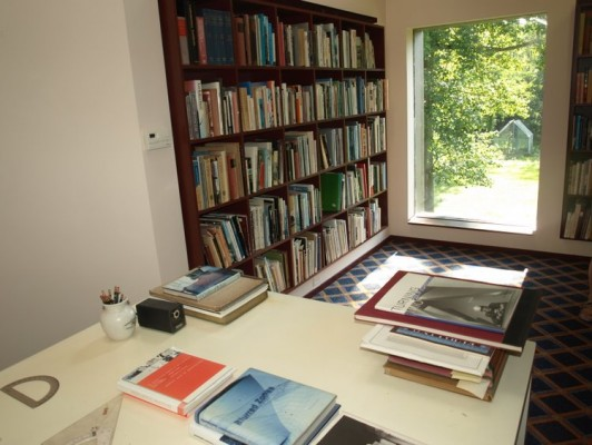 Inside Glass House library