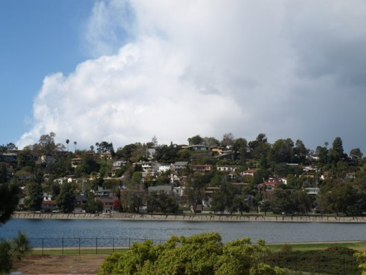 View of Silver Lake Reservoir from Neutra's VDL Research House II