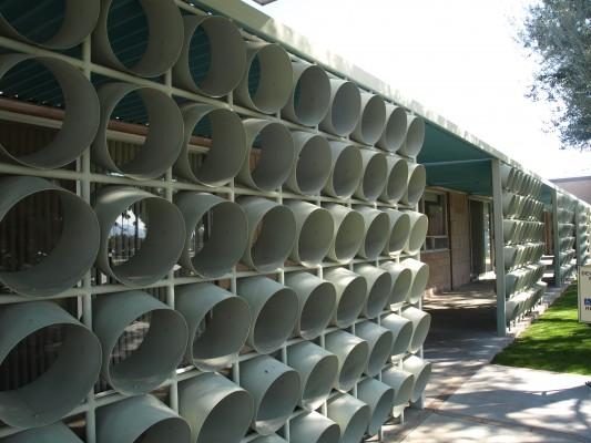 Palm Springs City Hall - sun blockers
