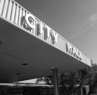 Palm Springs City Hall - close up