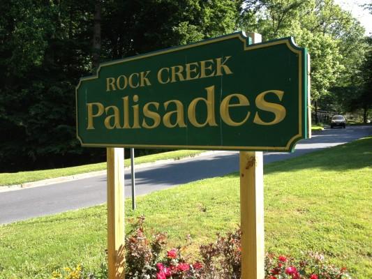 Rock Creek Palisades Sign