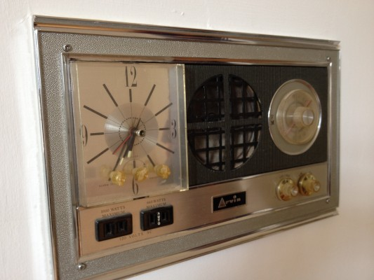 Vintage wall clock radio