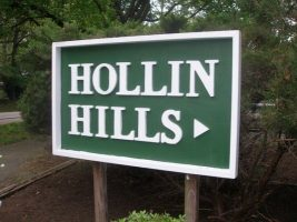 Hollin Hills sign