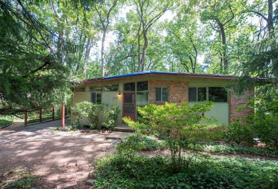 Mid-century modern home in Falls Church, Virginia.