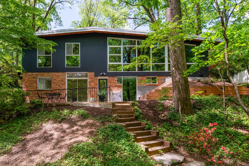 Renovated mid-century modern house in Falls Church.