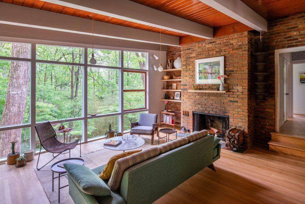 Mid-century modern home in Falls Church, Virginia..